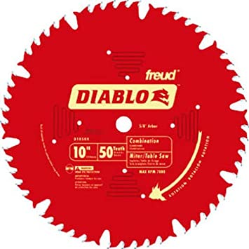 Marvelous Freud D1050X Diablo 10 Inch 50 Tooth ATB Combination Saw Blade With 5/