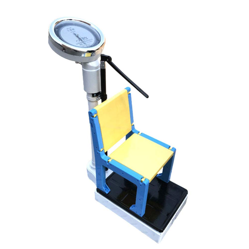 DWZF Mechanic Physician Scale, Precision Column Scales, Children's Professional Sitting Height Scales, Retractable Height Poles, with Chairs 160kg/350lb, 190cm