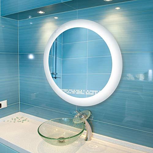 Dyconn Faucet Royal Wall-mounted Vanity Bathroom LED Backlit Mirror - Silver - Bathroom Royal Dyconn Led Mirrors