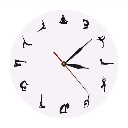 ganjue Posiciones De Yoga Reloj De Pared Meditación De Yoga ...