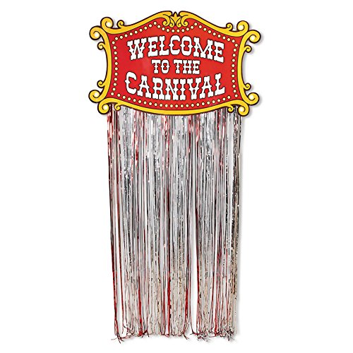 Fun Express Carnival Door Fringe Curtain Party Decoration -