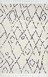 "nuLOOM Nieves Moroccan Diamond Shag Rug, 5' 3"" x"