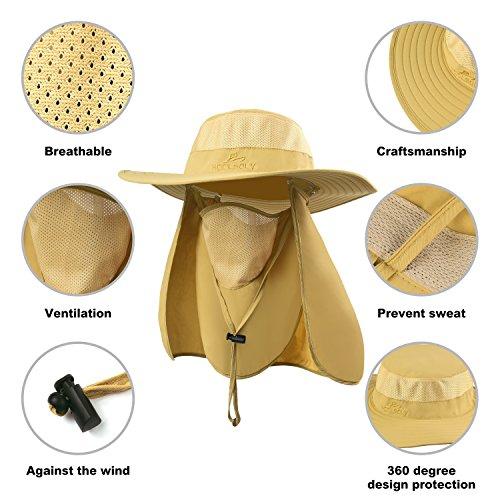 KOOLSOLY Outdoor Sun Cap For Men Women 7937459458b1