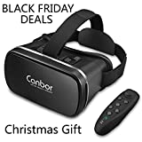 VR Headset, Canbor VR Goggles Virtual Reality Headset VR Glasses for 3D Video Movies Games for Apple iPhone, Samsung Huwei HTC More Smartphones