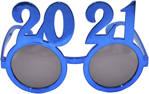 Amazon.com: KESYOO Glitter 2021 Glasses New Year Sunglasses Party Eyeglass Graduation New Years ...