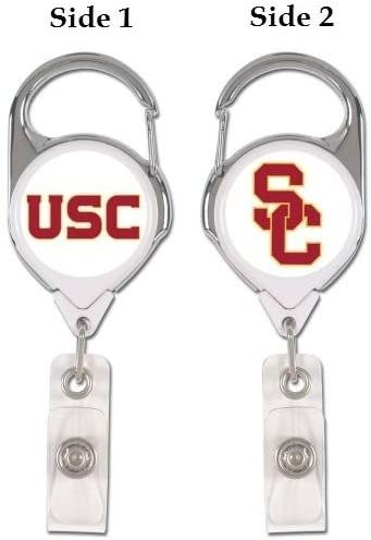 WinCraft NCAA USC Trojans Retractable Premium Badge Holder, Team Color, One Size