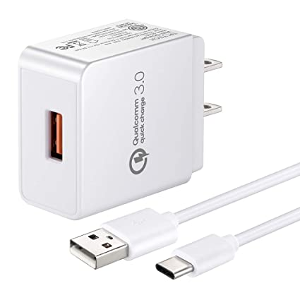 Quick Charge 3.0, Rapid Charger Compatible HTC U12+ Plus/10 U11 Life,Bolt,6.6FT Charger Cord Fast Charging Cable White