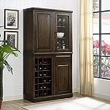 Pulaski 156-A429-100-K5 Napa Modular Wine 6pc Set - 4 Cabinets & 2 Bases Accents, Brown
