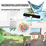 FDW Hammock Stand Portable Heavy Duty Hammock Stand Portable Steel Stand Only for Outdoor Patio or Indoor with Carrying Case