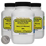 Molybdenum Disulfide [MoS2] 99% AR Grade Powder 1 Lb in Three Space-Saver Bottles USA