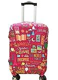 "Myosotis510 Cute 3D Luggage Protector Suitcase Cover 18-32 Inch (S(18""-22"" luggage), Big Eye)"