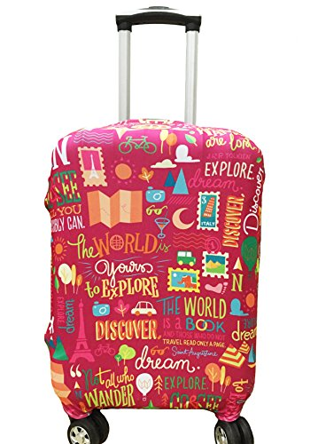 Myosotis510 Cute 3D Luggage Protector Suitcase Cover 18-32 Inch (L(27