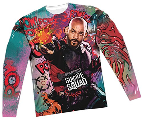 Deadshot Psychedelic -- Suicide Squad All-Over Long-Sleeve T-Shirt, XX-Large