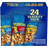 Planters Variety Pack 24 ct, Salted Peanuts, Honey Roasted Peanuts & Salted Cashews Ready-to-Go Sleeves, Multi-Pack Box Larger Image