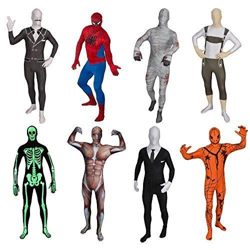 FUNSUIT Glow Skeleton Bodysuit Halloween Costume Size S / M / L / XL / XXL [XL]