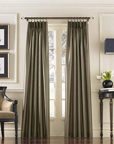 (Curtainworks Marquee Faux Silk Pinch Pleat Curtain Panel, 30 by 108