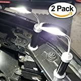 Bright Eyes Magnetic Automotive LED COB (New Tech.) Light Set for Auto Service - 6 Alkaline AAA Batteries Included. Works on most Hoods and metals. Can be used for other Home Activities. (Black)