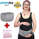 Maternity Belt and Comfortable Abdominal Binder Support Lower Back, Pelvic and Waist, Adjustable Pregnancy Belly Band Brace/Prenatal Cradle Support Your Baby Bump, One Size by Cupid, Beige (Grey)