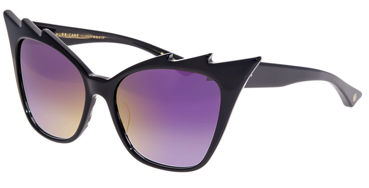 2a24e487649 Amazon.com  DITA Hurricane Cat Eye Shiny Black Iridium Mirrored 22025A  Sunglasses  Clothing
