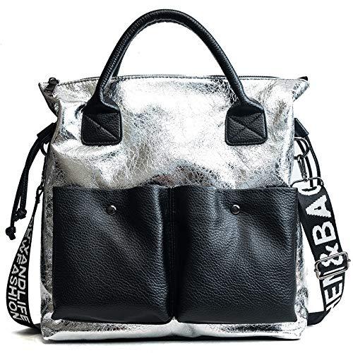 Borsa Strap Plata Female 2018 Tide Shoulder Wild Slung Wide Summer Portable Bag singolaorohlh KJclu1TF3