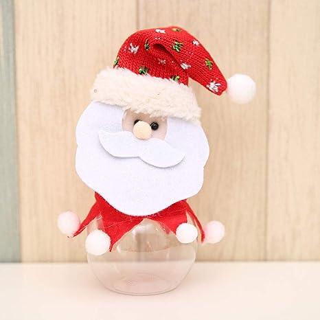 2 Estilos Plástico Puede Bolsas, Moda Navidad Decoración ...