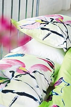 Designers Guild Madame Butterfly Housse de couette Coton//Percale de coton Lime 140 x 200 cm