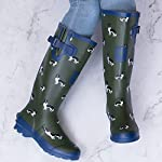 Spylovebuy Igloo Women's Adjustable Buckle Flat Festival Wellies Rain Boots 7