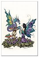 Tree-Free Greetings EcoNotes 12-Count Notecard/Envelope Set, 4 x 6 Inches, Companions Dragon and Fairy (64543)