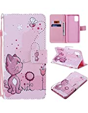Miagon Full Body Case for Samsung Galaxy S20 Ultra,Colorful Pattern Design PU Leather Flip Wallet Case Cover with Magnetic Closure Stand Card Slot,Cat Bee