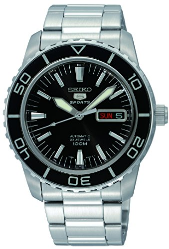 Seiko 5 SNZH55 Automatic Black Dial Stainless Steel Mens ()