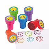12 Everyday Party Favors Mini EMOJI Icon Emoticon Face STAMPERS Stamps