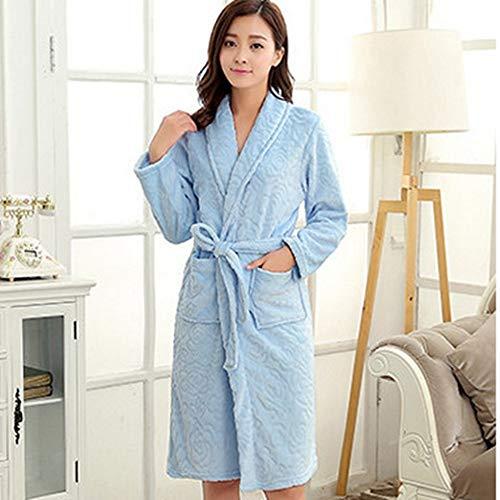 Albornoz Casa Abrigo Dormir Albornoces Larga Ysfu Túnicas Para Mujer Baño De Pijamas Manga Bata Ropa Otoño Invierno Eq7Ux1