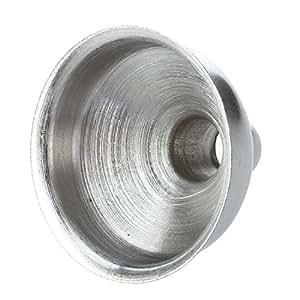 TOOGOO(R) New 8mm Stainless Steel Funnel For All Hip Flasks Flask Filler Wine Pot