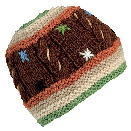 Turtle Fur Women's Nepal Tara, Hand Knit Artisan Wool Cable Beanie, (Knit Earband)
