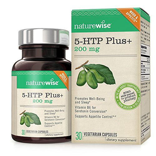 Cheap NatureWise 5-HTP Max Potency 200mg | Mood Support, Natural Sleep Aid & Helps Curb Appetite | Delayed Release Capsules Easier on the Stomach | Enhanced with Vitamin B6 | Non-GMO, Vegetarian, 30 count
