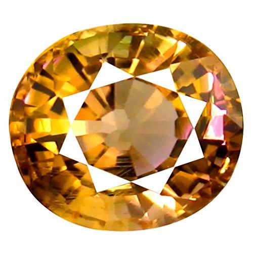 1.42 ct Oval Cut (7 x 6 mm) Un-Heated Bi Color Tourmaline Natural Loose Gemstone Bi Color Tourmaline Gem
