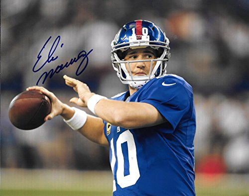 Eli Manning Autographed Signed New York Giants 8 x 10 Photo - COA