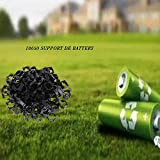 100Pcs 18650 Lithium Battery Holder, Plastic
