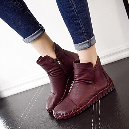 Da Flat Women's Nuovo Boots G Boot Mano Donna Cuciti Gtyw Autunno Heels Stivali A Casual Wild 7BBqI