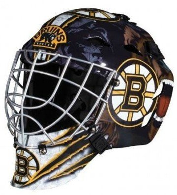 fan products of Boston Bruins Full Size Youth Goalie Hockey Mask
