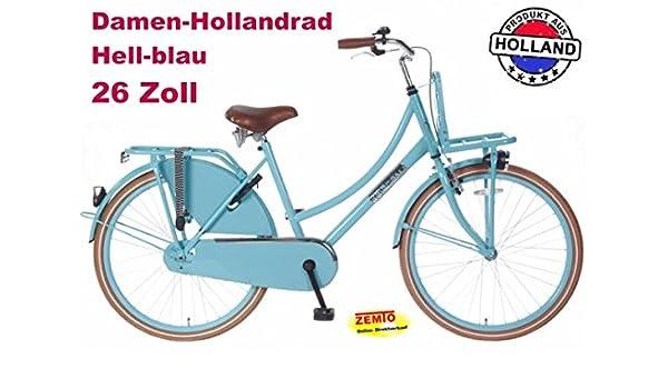 Bicicleta holandesa para mujer 66.04 cm POZA daily azul: Amazon.es: Deportes y aire libre