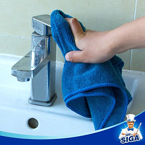 MR. SIGA Microfiber Cleaning Cloth, Pack of 12, Size: 15.7'' x 15.7'' by MR.SIGA (Image #2)