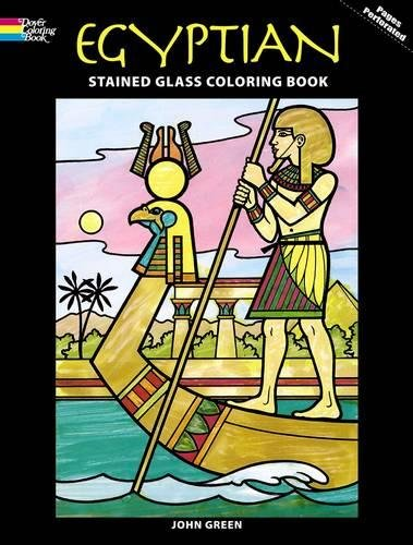 Egyptian Stained Glass Coloring Book (Dover Stained Glass Coloring Book)