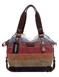 Tibes Vintage Canvas Women's Handbag Cross Body Bag Purse