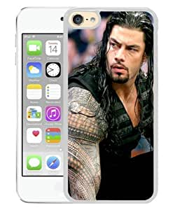 Newest iPod Touch 6 Case ,Popular And Beautiful Designed Case With Wwe Superstars Collection Wwe 2k15 Roman Reigns 10 white iPod Touch 6 Screen Cover High Quality Phone Case