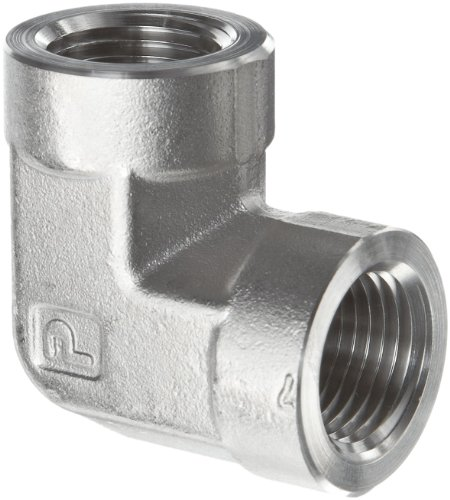 Parker Stainless Steel 316 Pipe Fitting, 90 Degree Elbow, 1/4