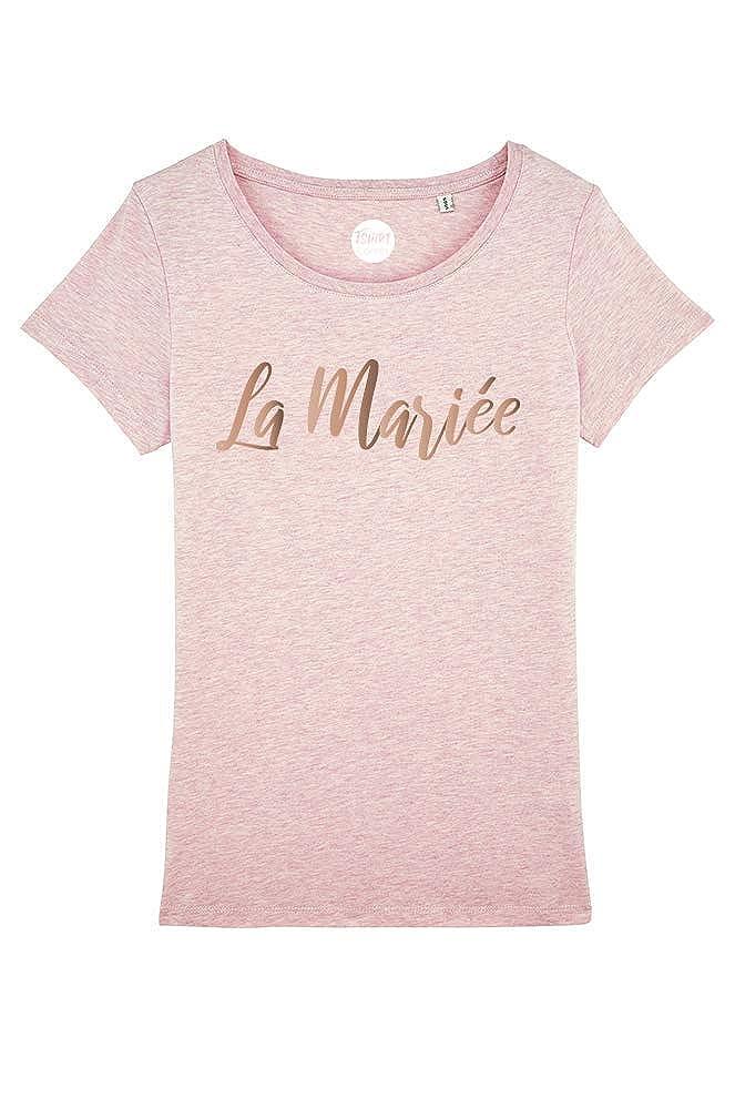 Enterrement de Vie de Jeune Fille T-Shirt EVJF La mari/ée Or Rose