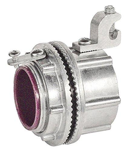 Zinc Grounding Hub - 1-1/4 Inch Die Cast Zinc Watertight Hubs With Grounding Lugs-2 per case