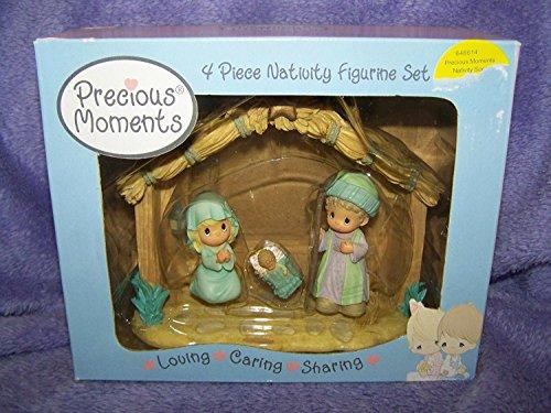 - Precious Moments 4 Piece Nativity Figurine Set