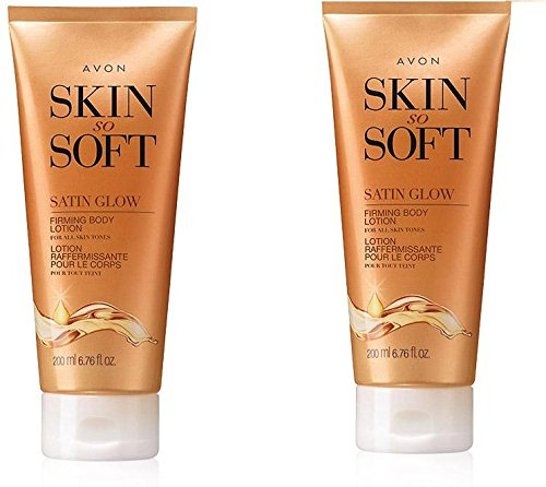 Avon Skin So Soft Satin Glow Firming Body Lotion lot of 2